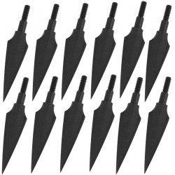 Sinbadteck Traditional Broadheads, 100/125/150Grains 12PK Traditional Hunting Points Screw-in Hunting Arrowheads Solid Metal Arrow Tips for Hunting and Target